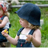 CTH Ellen kids hat organic denim