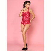 Esther Williams Classic sheath Polka dot red/white