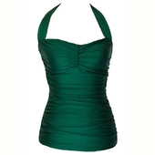Esther Williams Classic sheath solid green