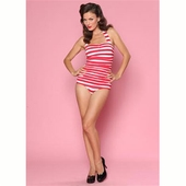 Esther Williams Classic sheath stripes red/white