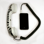 POP Phone Handset Zebra