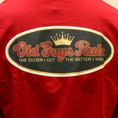 Old Guys Rule Older I Get cherry tee