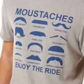 Penguin Movember Tee Rain Heather