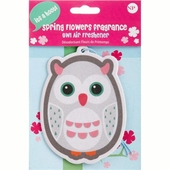 Air freshener Owl Spring Flowers