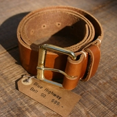 Blue Highway Cognac Belt