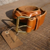 Blue Highway Braided Cognac Belt