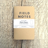 Field Notes 3-pack Plain Paper
