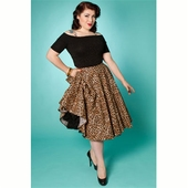 Miss Fortune Simply Pleasure Leopard Skirt