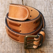 Indigofera Luke Leather Belt 2 Prong