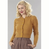 Emmy Design The ice skater cardigan mustard