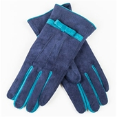 Kelly Gloves Navy /Turqoise