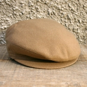 Vintage Childrens Hat Beige Wool