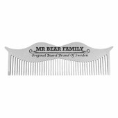Mr Bear Family Mustache Steel Comb