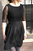 Yumi Eyelet Lace Dress Black