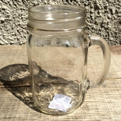 Ball Handled Mason jar pint