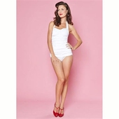 Esther Williams Classic sheath solid white
