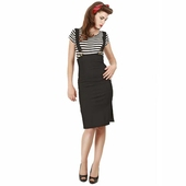 Collectif Heidi buckle braces skirt