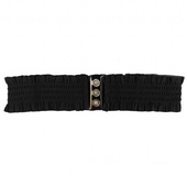 Collectif Sarah Retro Belt Black