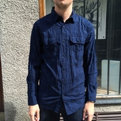Anchor Poplin Shirt Blue