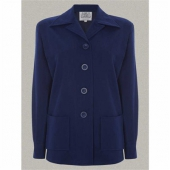 The Seamstress of Bloomsbury Pearl jacket blue wool