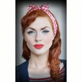 Rumble59 Vichy Hairband Red/White