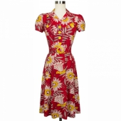 Trashy Diva Sweetie Dress Red waterlilies