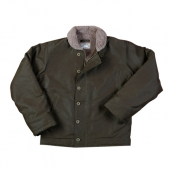 Pike Brothers 1944 N1 Deck Jacket Waxed Olive