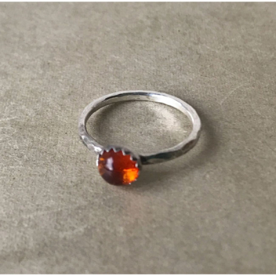 MoonPi Gemdrop Amber ring in the group Women / Jewelry at Sivletto - Skylark AB (mp10)