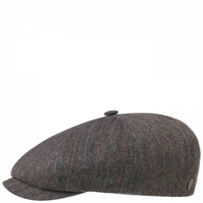 Stetson 8-panel Cap Linen/Wool Stripes in the group Men / Headwear / Flat caps at Sivletto - Skylark AB (stetson-6816701-636)