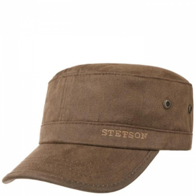 Stetson Army Cap Brown in the group Men / Headwear / Flat caps at Sivletto - Skylark AB (stetson-7491105-6)