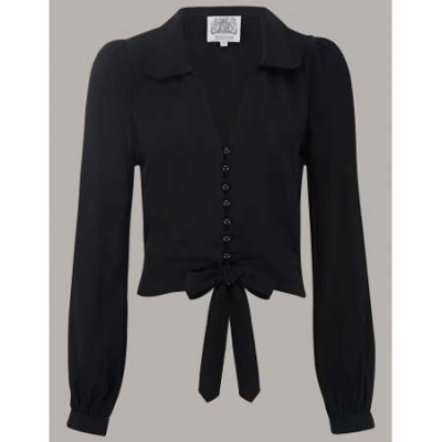 The Seamstress of Bloomsbury Clarice blouse black in the group Women / Blouses, tops & t-shirts at Sivletto (w10145)