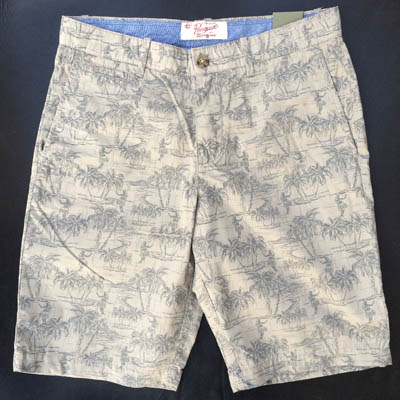 Penguin Hawaii Printed Shorts Khaki in the group Men / Shorts at Sivletto (w10193)