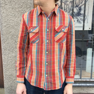 LVC 1950s Shorthorn Shirt Rust in the group Clearance / Men / Shirts at Sivletto (w10212)