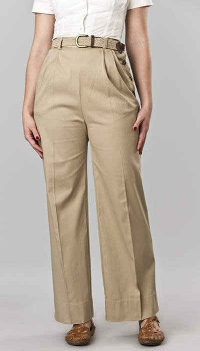 Emmy Design The Casual Voyager Slacks Sand in the group Clearance / Women / Pants at Sivletto - Skylark AB (w10408)