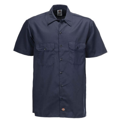 Dickies Shortsleeved Work Shirt Dark Navy in the group Clearance / Men / Shirts at Sivletto - Skylark AB (w10434)