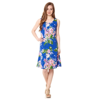 Fever Bahamas Jersey Skater Dress in the group Women / Dresses at Sivletto - Skylark AB (w10564)