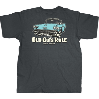 Old Guys Rule Cruise Control Charcoal Tee in the group Men / T-shirts at Sivletto - Skylark AB (w10606)