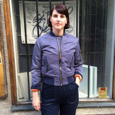 Schott x AC Bomber Woman Steel Grey in the group Clearance / Women / Misc at Sivletto - Skylark AB (w10836)