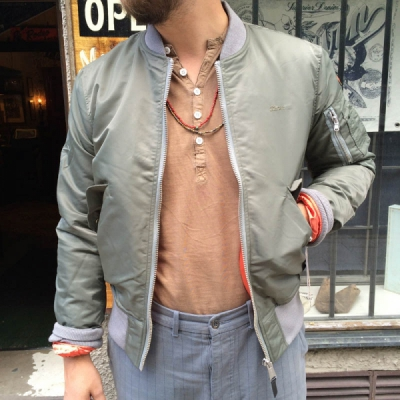 Schott x AC Bomber Khaki in the group Clearance / Men / Jackets at Sivletto (w10837)