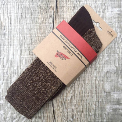Red Wing Brown Deep Toe Capped Wool - Sock in the group Unionville / Made in USA at Sivletto (w10851)