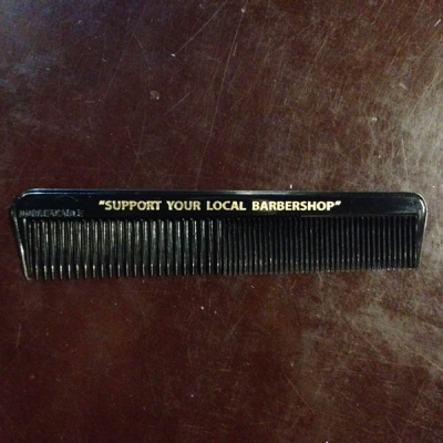 Support Comb Black Plastic in the group Hair and skincare / Combs at Sivletto (w10852)