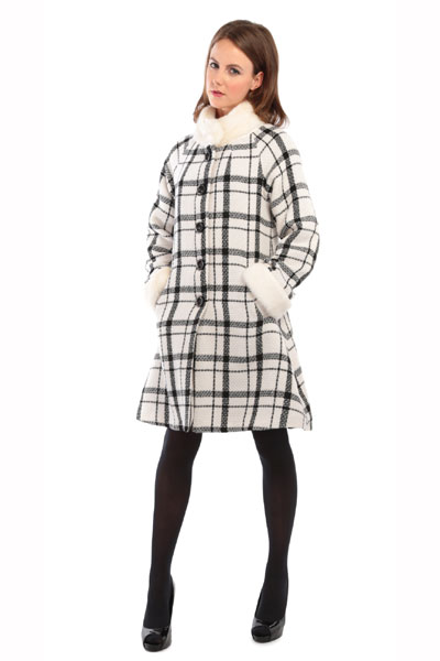 Collectif clothing Mariella checked coat in the group Clearance / Women / Misc at Sivletto - Skylark AB (w10877)