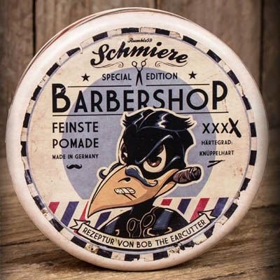 Schmiere Barbershop rock hard XXXX in the group Hair and skincare / Pomade / Extra hard pomade at Sivletto - Skylark AB (w11139)