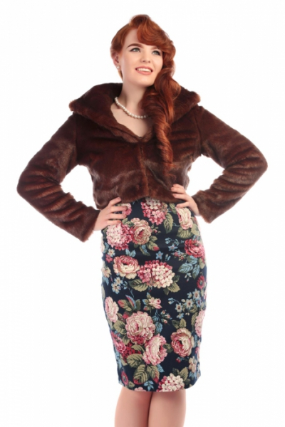 Collectif Clara faux fur jacket in the group Women / Coats and jackets at Sivletto - Skylark AB (w11234)