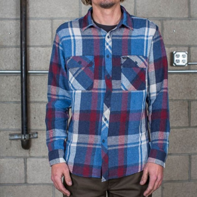 Brixton Bowery Blue/Burgundy in the group Clearance / Men / Shirts at Sivletto - Skylark AB (w11477)