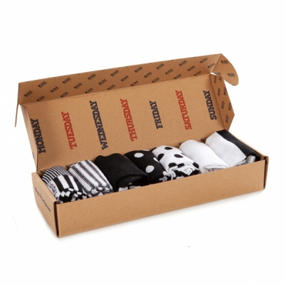 KOI Black & White Sock Pack in the group Men / Undergarments / Socks at Sivletto - Skylark AB (w11549)