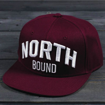 Northern Hooligan North Bound Maroon Snapback Cap in the group Men / Headwear / Trucker/baseball caps at Sivletto - Skylark AB (w11609)
