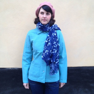 Armor-Lux Marine Imprimé Ancre Scarf in the group Sale! / Women / Misc at Sivletto - Skylark AB (w11623)