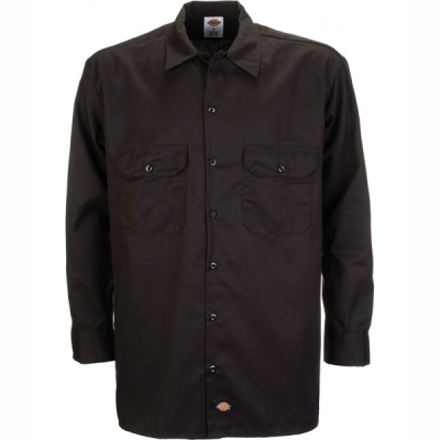 Dickies 574 Longsleeve shirt Black  in the group Men / Shirts, long sleeve at Sivletto (w1193)