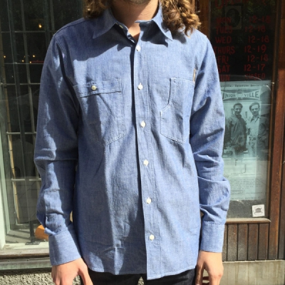 Pike Brothers 1937 Roamer Shirt Chambray in the group Clearance / Men / Shirts at Sivletto - Skylark AB (w11977)